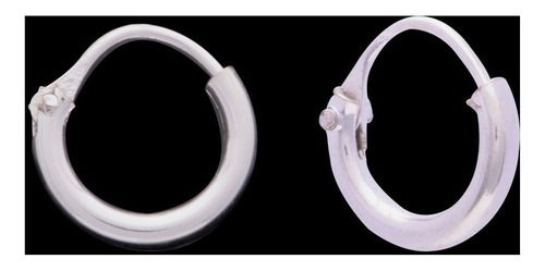 Brinco Argola 12mm Pequena Lisa Tubo Em Prata 925