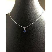 Conjunto Corrente Veneziana E Ponto De Luz Azul Prata 925