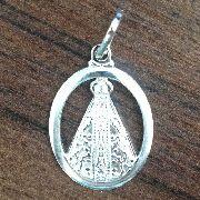 Pingente Vazado Nossa Senhora Aparecida Em Prata 925