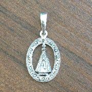 Pingente Nossa Senhora Aparecida Com Marcassita Em Prata 925