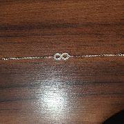 Pulseira Infinito Em Prata 925 - 19cm