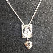 Corrente Escapulário N.s. Do Carmo S.c. Jesus Em Prata 925