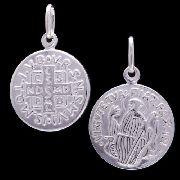 Pingente Medalha De São Bento 15mm Em Prata 925 - 220610