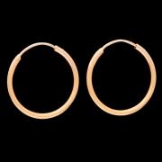 Brinco Argola Tubo Em Ouro 18k - 750 - 0,6grs - 1,3cm