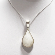 Colar Feminino Groumet Pedra Natural Em Prata 925 Caixa Veludo