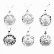 Conjunto Corrente Veneziana 45cm Medalha De Santo Em Prata 925