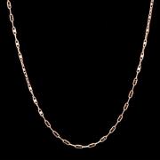 Corrente Cadeado Com 45cm Em Ouro 18k - 750 - 3,60grs