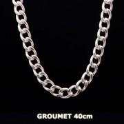 Corrente Em Prata 925 Groumet 40cm - 26,50gr