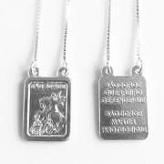 Escapulário São Jorge Com Oração Em Prata 925