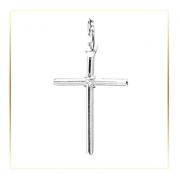 Pingente Crucifixo Com Nó Proteção Brilho 20mm Em Prata 925