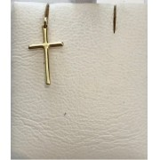 Pingente Crucifixo Palito 18mm Em Ouro 18k