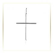 Pingente Crucifixo Palito Proteção Brilho 45mm Em Prata 925