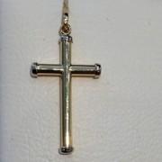 Pingente Crucifixo Sem Cristo Em Ouro 18k - 750 - 0,85grs