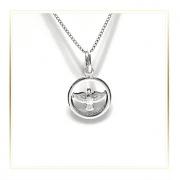 Pingente Espírito Santo Proteção Brilho Em Prata 925