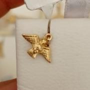 Pingente Espirito Santo Proteção Pequeno Em Ouro 18k - 750