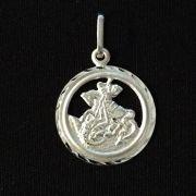 Pingente Medalha São Jorge Vazado 23mm Em Prata 925