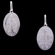 Pingente Nossa Senhora Das Graças Em Prata 925 - 220602