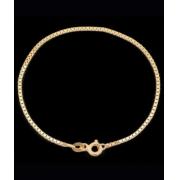 Pulseira Infantil Veneziana Em Ouro 18k - 750 - 14cm 0,55gr