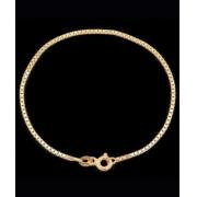 Pulseira Veneziana Em Ouro 18k - 750 - 21cm