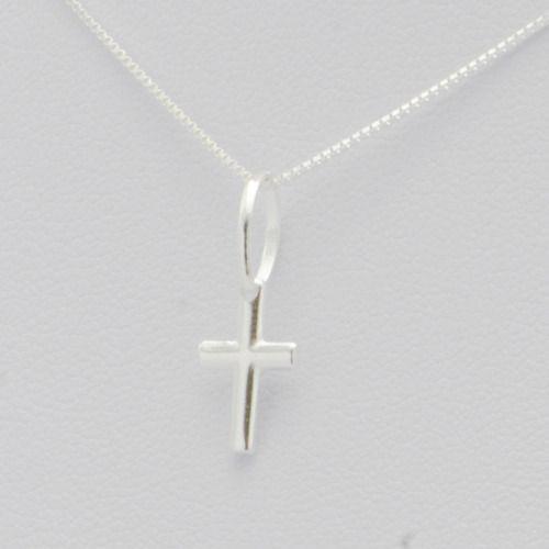Pingente Crucifixo Palito Pequeno 12mm Em Prata 925