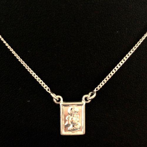 Corrente Escapulário Anjo Rezando Em Prata 925 - 60cm