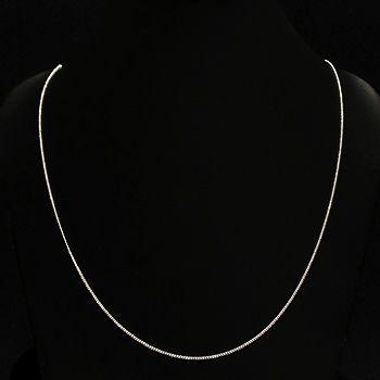 Corrente Groumet Com 60cm Em Prata 925 - 1,8grs