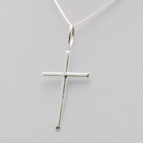 Pingente Crucifixo Palito 3.0cm Em Prata 925 Com Box