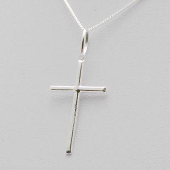 Pingente Crucifixo Palito 5.0cm Em Prata 925