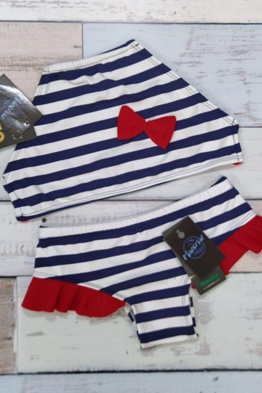 Biquini Cropped Infantil Marinheiro