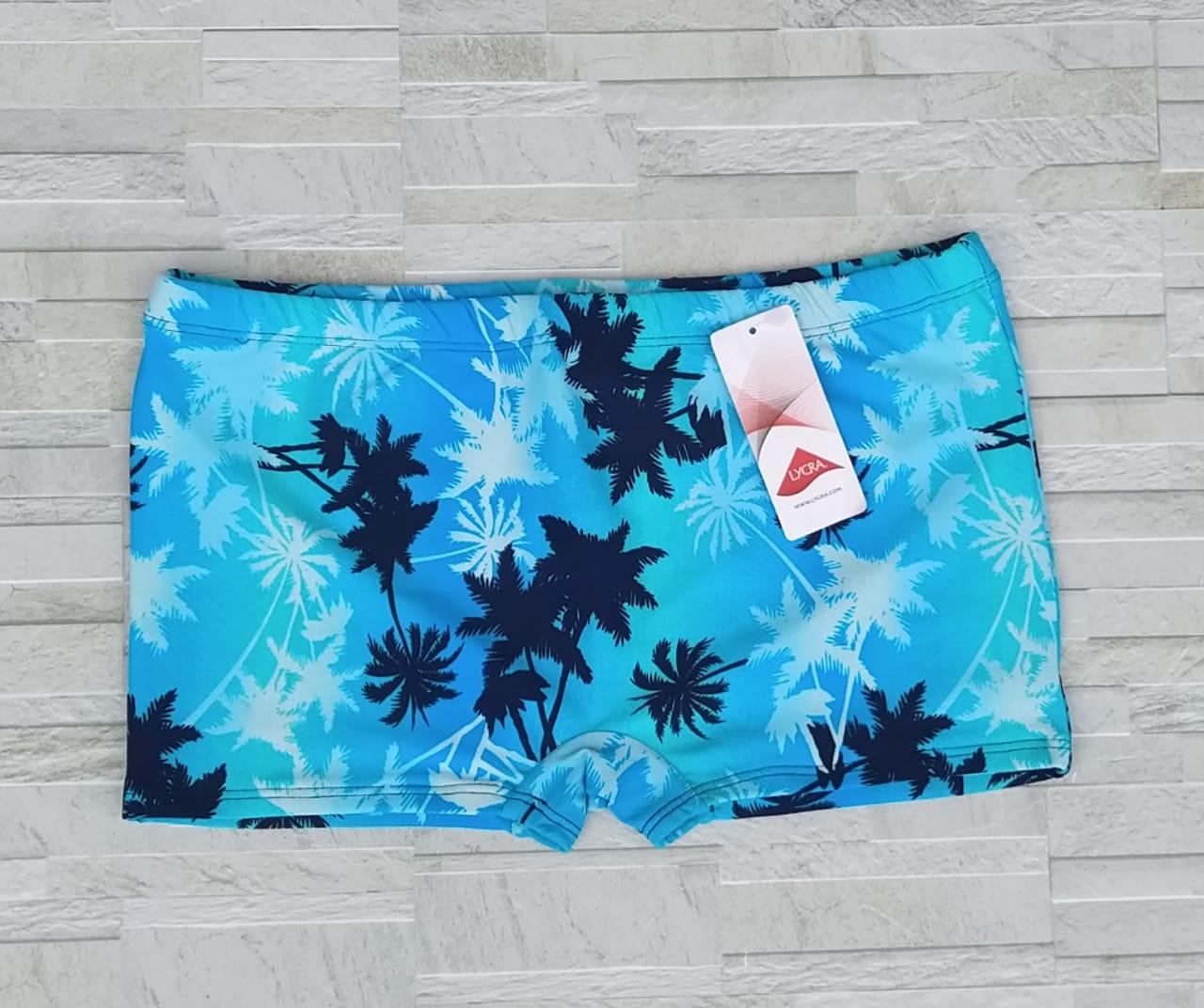 Sunga Coqueiro Azul