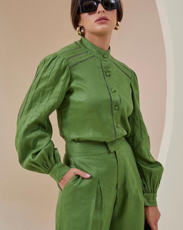 Camisa de Linho - Rosa Dahlia