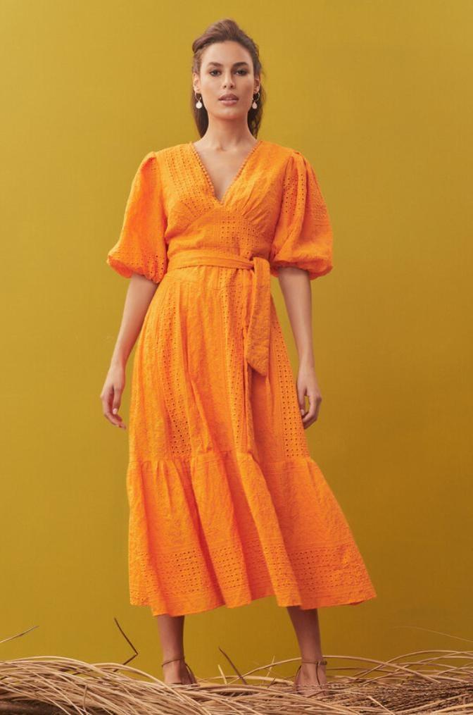 Vestido Com Amarração Frontal - Zen