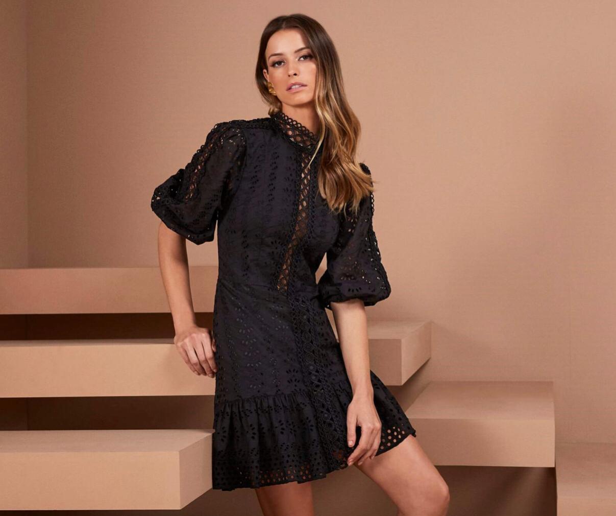 Vestido Gola Alta - Agilita