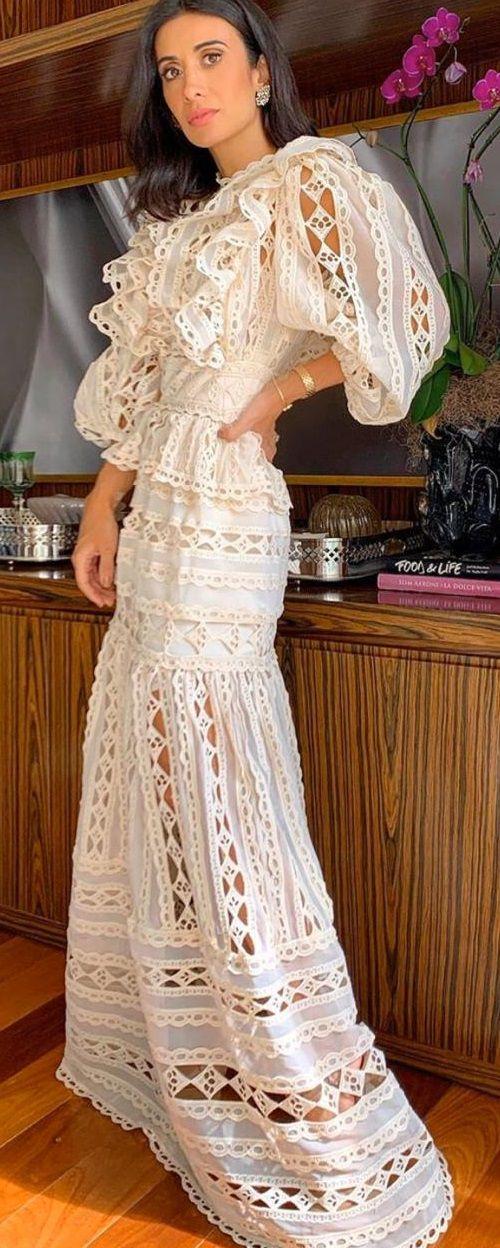 Vestido Guipir Vazado - Skazi