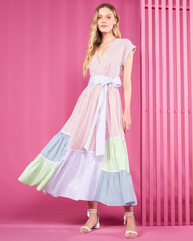 Vestido Listras Coloridas - Sclub