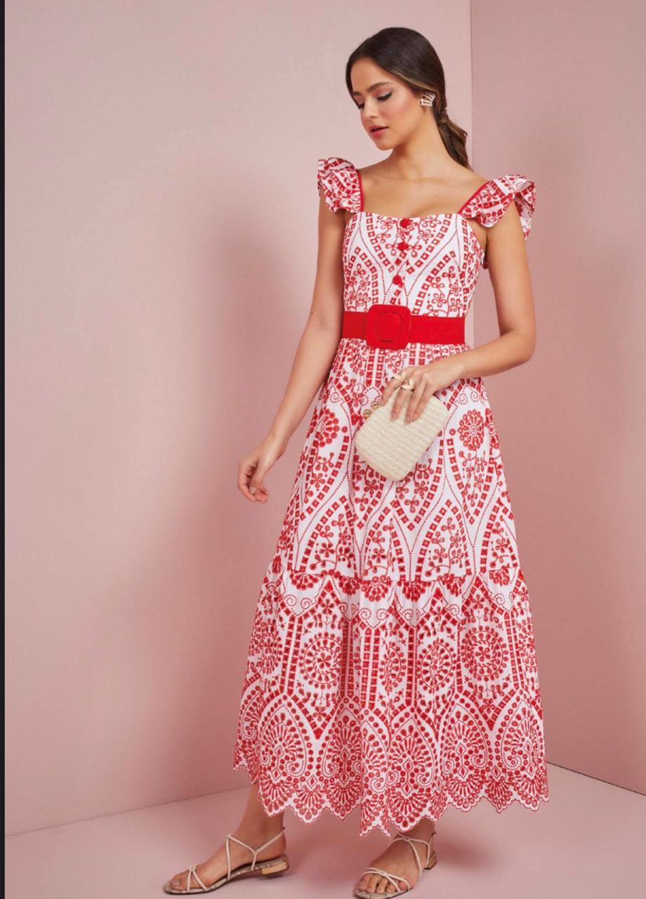 Vestido Longo Alice - Rosa Dahlia
