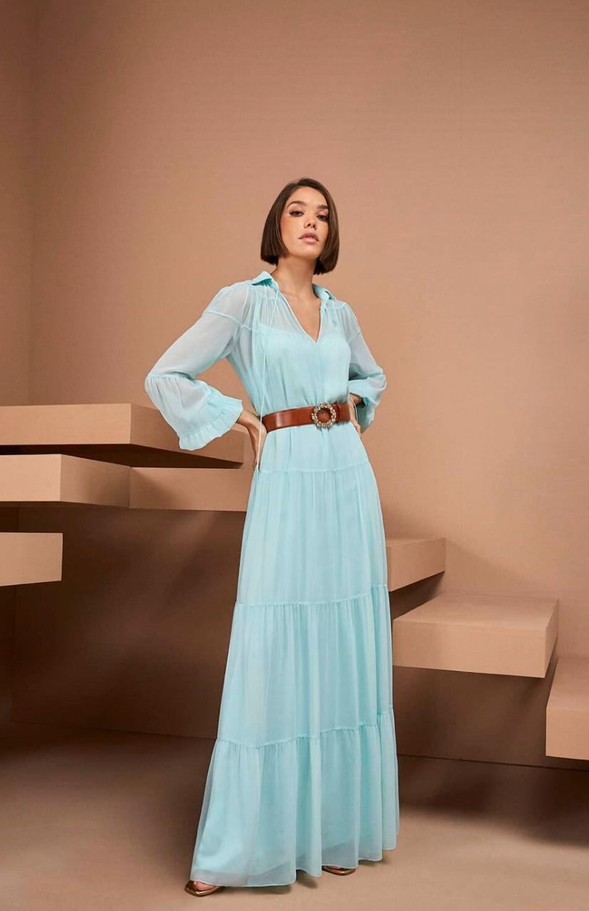 Vestido Longo Azul - Agilita
