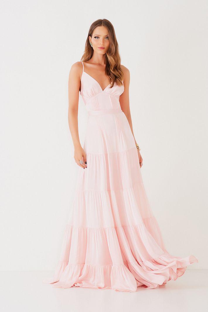Vestido Longo Vitoria Rosa - Fabulous