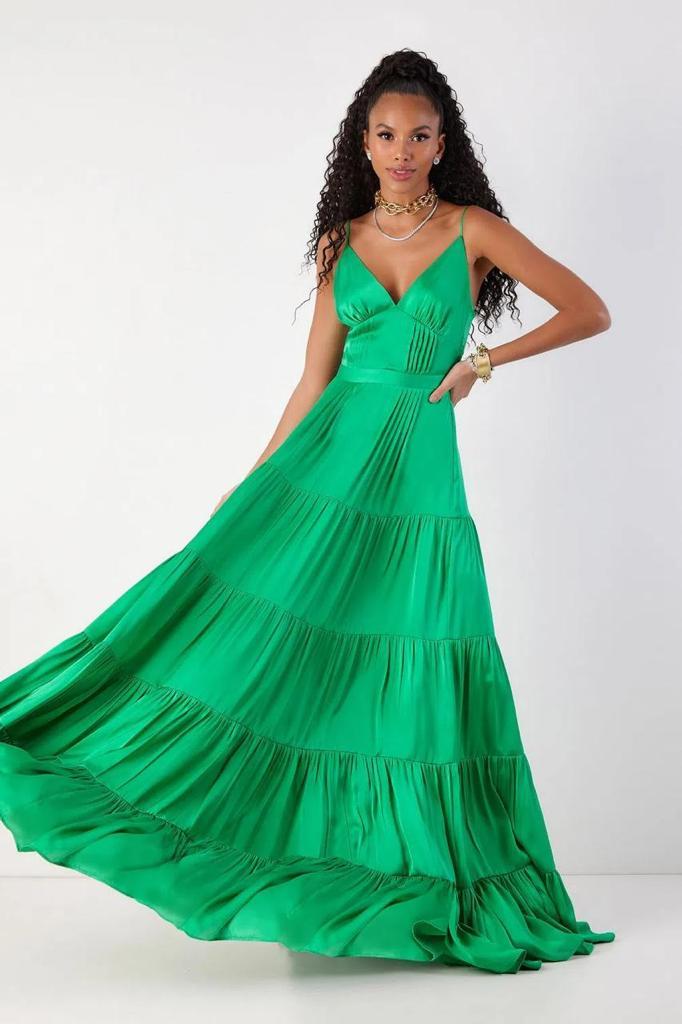 Vestido Longo Vitoria Rosa - Fabulous Agilità