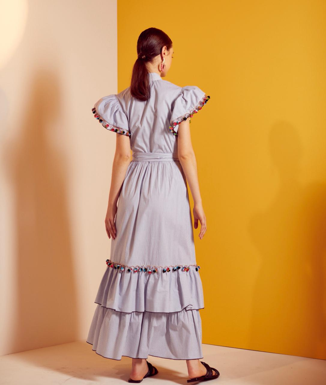 Vestido Longuete Listras - Skazi