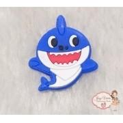 Aplique Emborrachado Baby Shark Azul (Unidade)