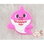 Aplique Emborrachado Baby Shark Rosa (Unidade)