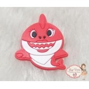 Aplique Emborrachado Baby Shark vermelho (Unidade)