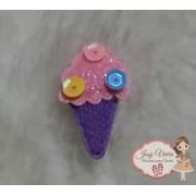 Aplique sorvete Lilás 25x35mm (Unidade)