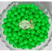 Bola Plástica leitosa 8mm Verde 100g