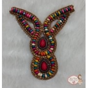 Cabedal Indiano Novo Colorido (Par)