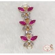 Cabedal Lateral Borboleta Pink (Par)