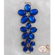 Cabedal Lateral Flor Azul Escuro (Par)
