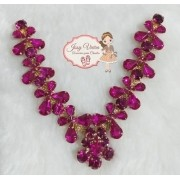 Cabedal Pedraria Pink Mini Borboletas(Par)