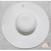 Chapéu Adulto Aba Grande Branco